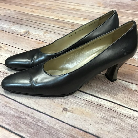 ef68416dd0 Salvatore Ferragamo Shoes | Ferragamo Kitten Heel Silver Pewter Sz ...